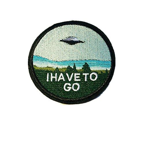 UFO Außerirdische Patch Aufbügler Aufnäher Abzeichen Bügelbild Aufnäherbild Kinder Erwachsene