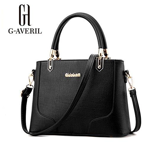 (G-AVERIL)nuovo pacchetto onda signore borsa Messenger Bag donne per le donne borsa nero