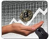 Yanteng Tappetino per Mouse da Gioco, Tappetino per Mouse in Gomma Antiscivolo con Paragrafo Bitcoin