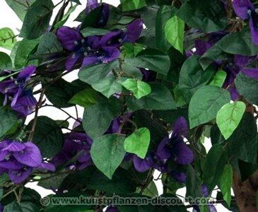 Bougainvillea Kunstbaum mit lavendel farbige Blüten, Höhe 180cm mit Zementfuß – Kunstpflanze Kunstbaum künstliche Bäume Kunstbäume Gummibaum Kunstoffpflanzen Dekopflanzen