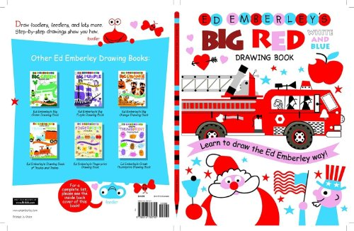 Ed Emberley's Big Red Drawing Book White and Blue (Ed Emberley's Big Series)
