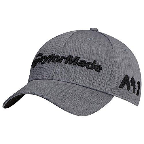 taylormade-2017-tour-radar-m1-performance-mens-structured-golf-cap-adjustable-grey
