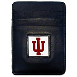 NCAA Indiana Hoosiers Leather Money Clip/Cardholder Wallet