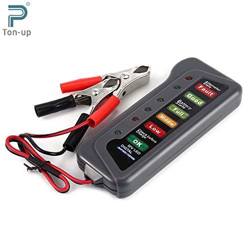 New 12V Auto Car Digital Battery Alternator Tester 6 LED Lights Display Diagnostic Tool for Cars Vehicle Motorcycle Batteries