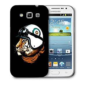 Snoogg Tiger With Helmets Designer Protective Back Case Cover For Samsung Galaxy Win i8552