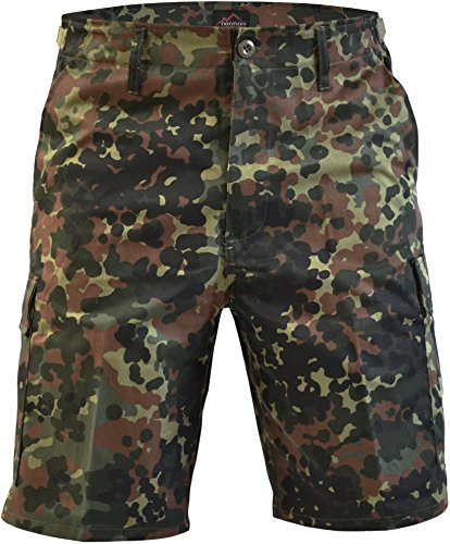 normani Kurze Bermuda Shorts US Army Ranger Feldhose Arbeitshose S - XXXL Farbe Flecktarn Größe XXL