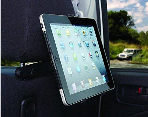 Hypersonic® HPA525 Universelle Auto Kfz Tablet Autohalterung Kopfstützenhalterung für iPad Android Nexus Smartphone Galaxy Note 110-210 mm , 7 - 10 Zoll ,360° drehbar , horizontal und vertikal