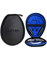 GoFree Headphone Case for Collar/Neck Band/Behind The Neck/Necklace Headphones (Size: Small/Carbon Fiber Black)
