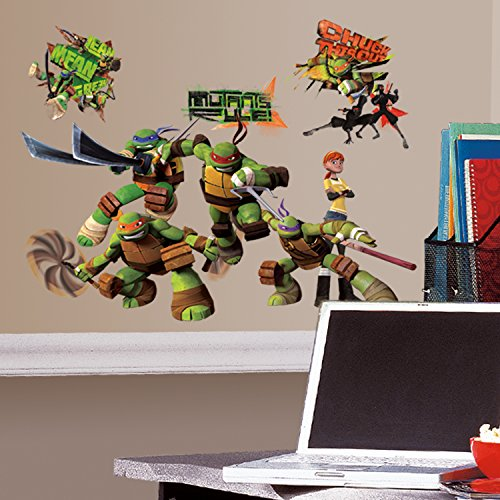 RoomMates Wandsticker Kinderzimmer – Teenage Mutant Ninja Turtles