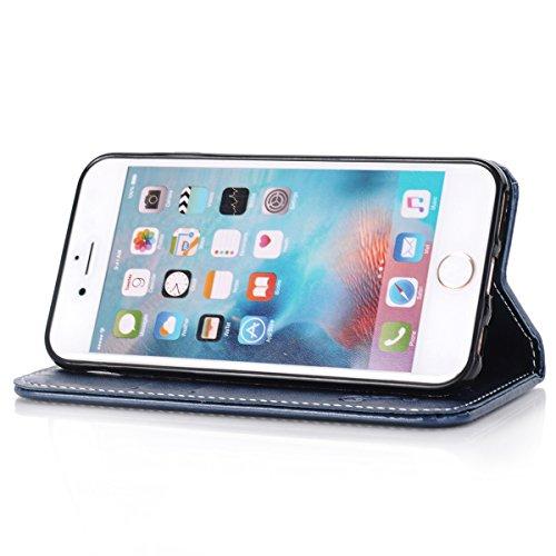 iPhone 6S Plus / iPhone 6 Plus Hülle, ANNNWZZD iPhone 6S Plus / iPhone 6 Plus Handyhülle im Buchstyle Premium Kunstleder Tasche Flip Case Etui Schutz Hülle für iPhone 6S Plus / iPhone 6 Plus,A10 A06