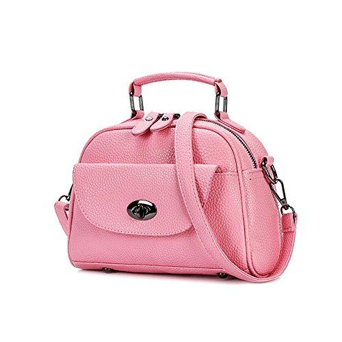 HQYSS Borse donna Semplice morbido PU selvaggio pelle donne Messenger Shoulder Handbag Lightweight Tote Bag regolabile , all-match ash cherry blossoms powder