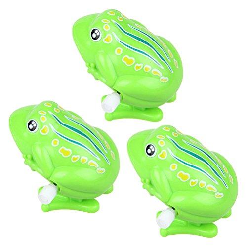 TOYMYTOY 3 Stück Wind up Spielzeug Kinder Tier Uhrwerk Spielzeug springende Frösche Badespielzeug (Grün) (Der Springende Frosch)