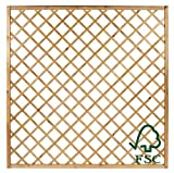 Panel de rejillas diagonales ITALFROM en madera de pino impregnada para jardín - cm150x180h