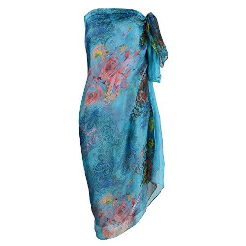 Damen Strandkleid/Sarong mit Blumenmuster