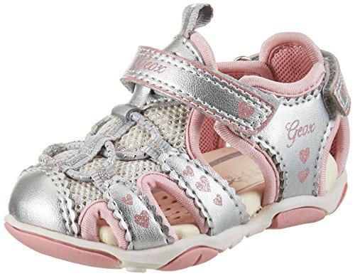 Geox Baby Mädchen B Sandal Agasim Girl C, Silber (SILVERC1007), 22 EU