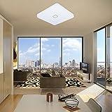 uesen-LED-24W-lmpara-de-techo-resistente-al-agua-moderna-LED-luz-de-techo-Cuadrado-delgada-2050lm-Blanco-fro-5000K-para-bao-Dormitorio-Cocina-Sala-de-estar-Comedor-Balcn-Pasillo