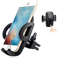 exshow Meccanismo di sgancio supporto universale per bocchetta di ventilazione auto con testa girevole per 3,5–6pollici Cellulari e GPS