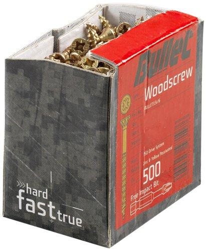 Bullet - Viti per legno 3,5 x 30 mm (250 pezzi)