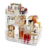 LBLA Organisateur de Maquillage,360 Degrés Rotatif Bijoux Rangement Maquillage Cosmétique,8 Couches pour Maquillage et d'accessoires,Crystal Clear