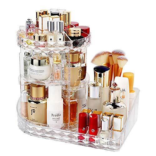 LBLA Organisateur de Maquillage,360 Degrés Rotatif Bijoux Rangement Maquillage Cosmétique,8...