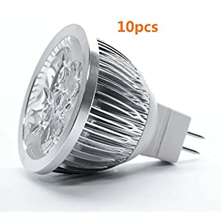 AcenX(TM) LED MR16 Spotlight DV 12V 4W (440 Lumen - 50 Watt Equivalent) 7000K 45 Degree Beam angle with 10Pcs(Warm White)