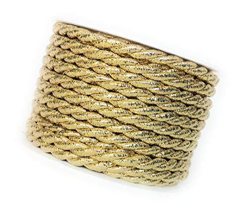 Kordel 10m x 6mm Gold Drehkordel Kordelband Kordelschnur (Kordel Gold)