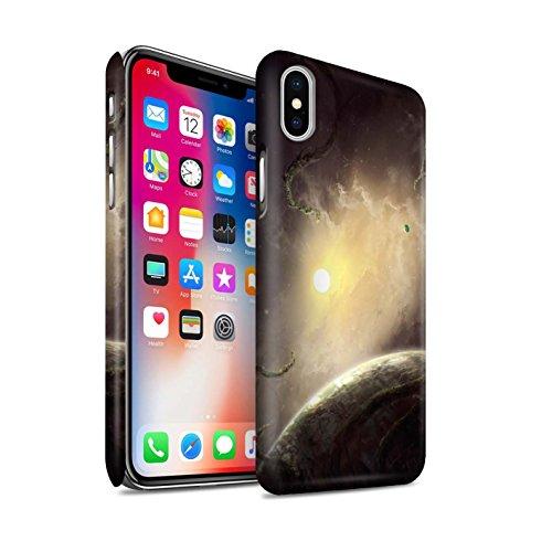Offiziell Chris Cold Hülle / Matte Snap-On Case für Apple iPhone X/10 / Phönix/Raumzeit Muster / Galaktische Welt Kollektion Entfernten Stern