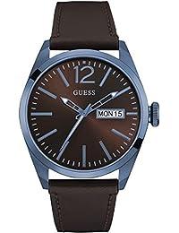 Guess Herren-Armbanduhr Mens Trend Analog Quarz Leder W0658G8