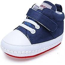 97470b577 DELEBAO Zapatos Bebe Niña Zapatillas Lona Bebe Bambas Bebe Niño con Suela  Antideslizante Calzado Primeros Pasos