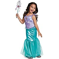 Disguise Ariel Deluxe Disney Princess The Little Mermaid Costume, Medium/7-8