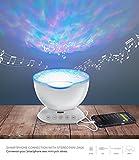 luce multicolore, proiettori led di luce, lampada projettore zen, illuminazione multicolore, lampada atmosfera illuminazione design di soggiorno, riproduce musica con luce d' atmosfera, Lampada con telecomando, ideale come Proiettore luce di stanza o Serata