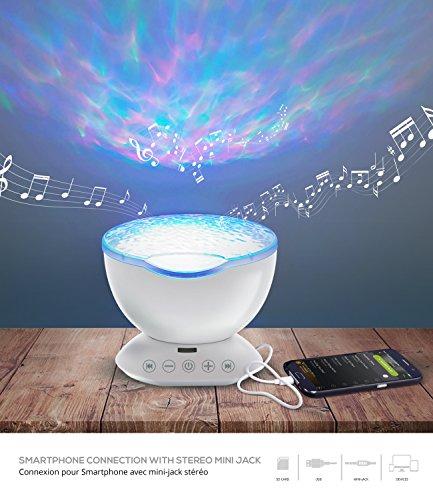 Lámpara 3D, lámpara de ambiente, decoración Zen-Lámpara de salón multicolor difusa, música y luces con mando a distancia, crea un ambiente acogedor y variado