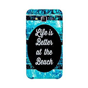 Back cover for Samsung Galaxy J1 Ace Life is Better at the Beach