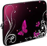 Sidorenko Tablet PC Tasche für 10-10.1 Zoll | Universal Tablet Schutzhülle | Hülle Sleeve Case Etui aus Neopren, Rosa/Schwarz