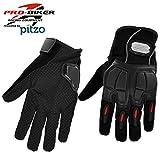 #7: Pitzo Probiker Full Finger Riding Gloves (Black, XL)