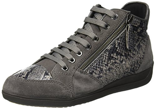 Geox Donna D Snake M TEXTILE+SUEDE (38, OFF WHITE): Amazon