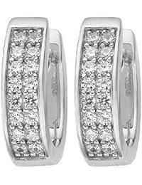 JETTE Silver Damen-Creole Jette Silber 925er Silber 32 Zirkonia One Size, silber
