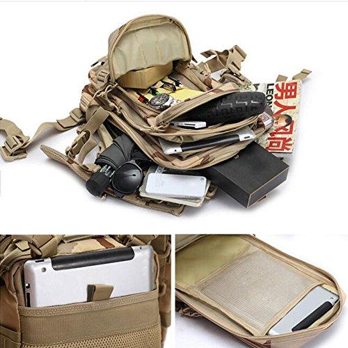 Kry Military Tactical interne Rahmen Rucksäcke leichter Tagesrucksack Wasserdicht Reisen Rucksack für Camping Wandern Klettern Radfahren 30L - Desert Digital Color