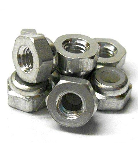 T10055S Aluminium Nylon écrou de blocage M3 3mm nylon écrou Argent x 8
