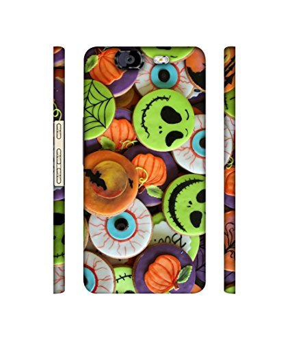 Casotec Halloween Cookies Designer 3D Printed Hard Back Case Cover for Micromax Canvas Knight A350