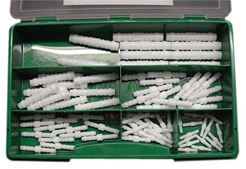 Preisvergleich Produktbild Schlauchverbinder Sortiment Gerade 3, 4, 5, 6, 8, 10mm je 10 Stück, Norma