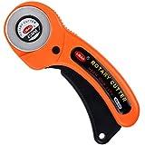 Zacro Rollschneider mit Schutzmechanismus Premium 45mm Stahl-Klinge