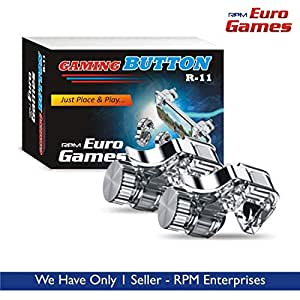 RPM Euro Games PUBG Trigger R11 Mobile Gaming Controller Button triggers for Phone (Metal)