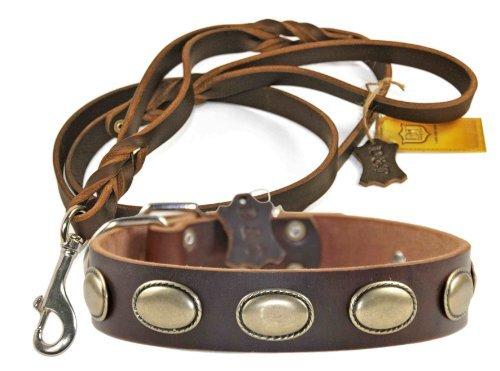 Dean und Tyler Kombination'Nostalgie' -Halsband, 97cm mit passender 'Die Braidy Familie'- Leine,...