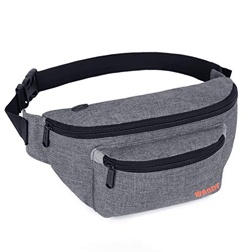 WANDF Gürteltasche Bauchtasche für Damen und Herren Einstellbare Bum Hüfte Hüfttasche für Sport Laufen Joggen Wandern - Geschenk-tasche Pack