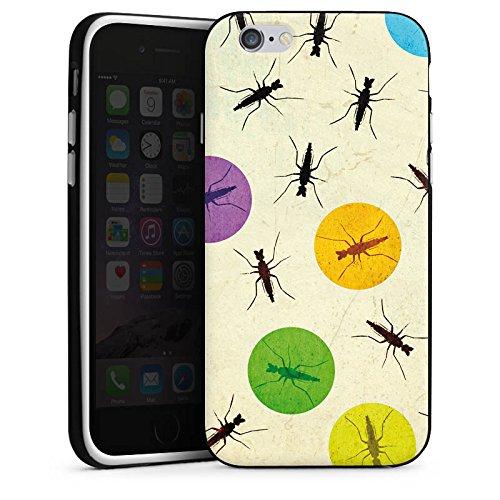 Apple iPhone 5s Housse Étui Protection Coque Moustique Coccinelle Points Housse en silicone noir / blanc