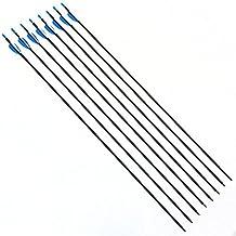 6 piezas 76cm Tiro con arco de caza Flechas de carbono Arco recurvo compuesto