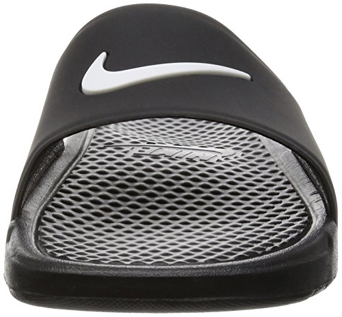 Nike Benassi Shower Slide, Chaussures de Sport Homme, 47.5 EU Schwarz (Black / White)