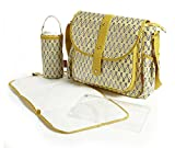 Baby Baggage Wickeltasche, Gelb, 4-teiliges Set