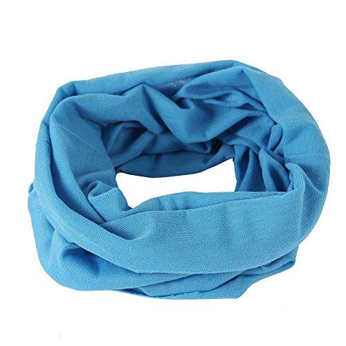 Blaues leichtes Schlauchtuch Multifunktionstuch Halstuch Multischal Schlauchschal